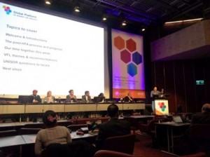 2013 年5月のUNISDR主催「防災グローバルプラットフォーム会合」